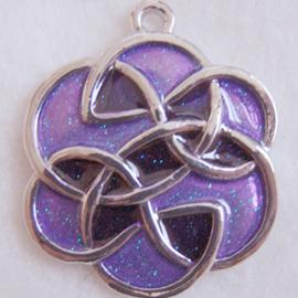 Hanger keltisch paars - S10219