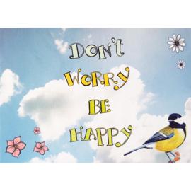 Kaart Don't worry be happy - Sidedish - SD0031