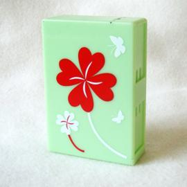 Sigarettendoosje dispenser box groen, klaver vier - D11784