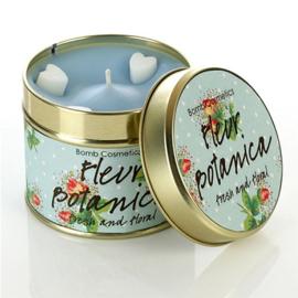 Geurkaars Fleur Botanica in blik - BOMB Cosmetics