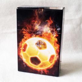 Sigarettendoosje voetbal/vuur - D12200