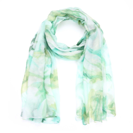 Sjaal tie dye groentinten - D14080