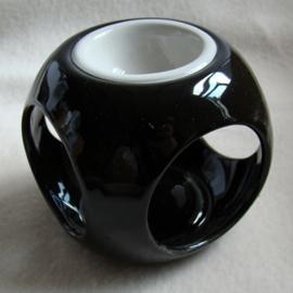 Olieverdamper rond zwart/wit - O10215