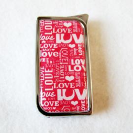 Epoxy Piezo aansteker love roze - D11778