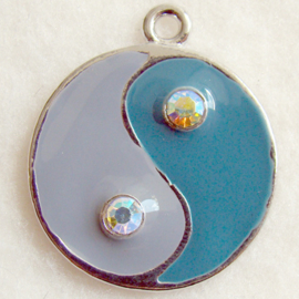 Bedel yin yang grijs/blauw - S10199