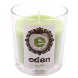 Geurkaars Eden appel in glazen potje