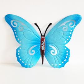 Vlinder blauw - D13331