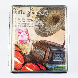 Sigarettenkoker muziek oude platenspeler - D12144
