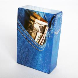 Sigarettendoosje jeans geld - D11321