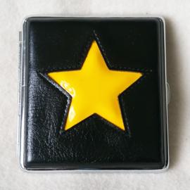 Sigarettenkoker zwart met gele ster - D12717