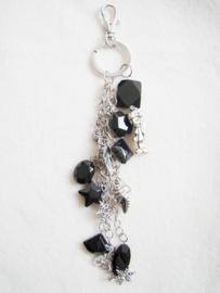 Sleutelhanger of tashanger zwart - D10169
