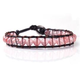 Lulu armband roze (licht) - S10990