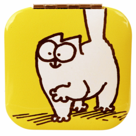 Make-up spiegel Simon's cat geel - D13295