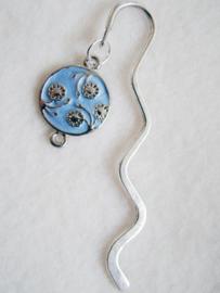Boekenlegger bloem blauw - D10132