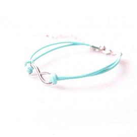 Armband blauw met het oneindigheidsteken - S11157