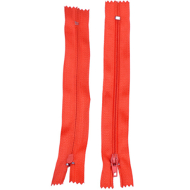 Rits 14,5 cm - oranjerood - niet deelbaar - D12401
