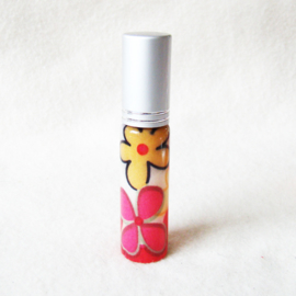 Parfumverstuiver met gekleurde bloemen - D11599r
