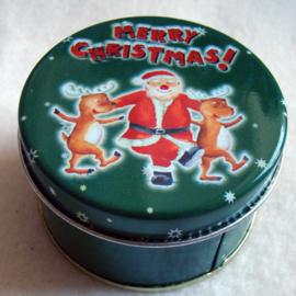 Wierook in kerstblik groen met kerstman, geur christmas