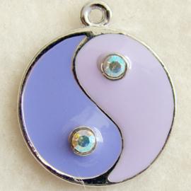 Bedel yin yang lila/paars - S10198