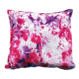 Tie Dye kussen roze paars wit - TD00188