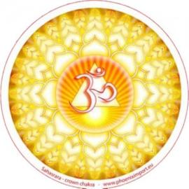 Raamsticker enkelzijdig - Sahasrara crown chakra - D11114