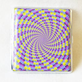 Sigarettenkoker 70's design paars/geel - D12302