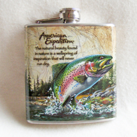 Drankflesje wild life, rainbow trout - D10939e
