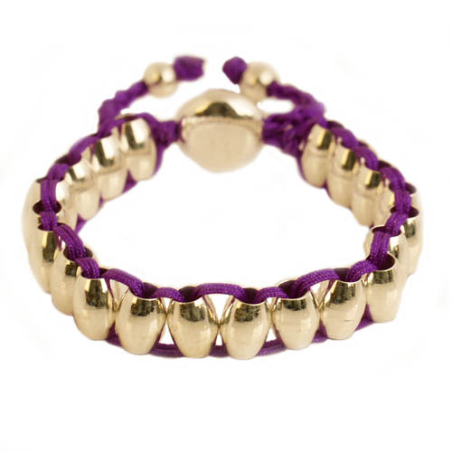 Lulu armband zilver/paars - S11005