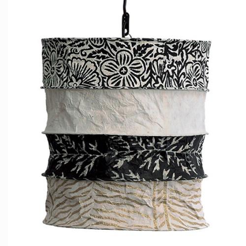 Lokta lamp Casablanca ecru-black