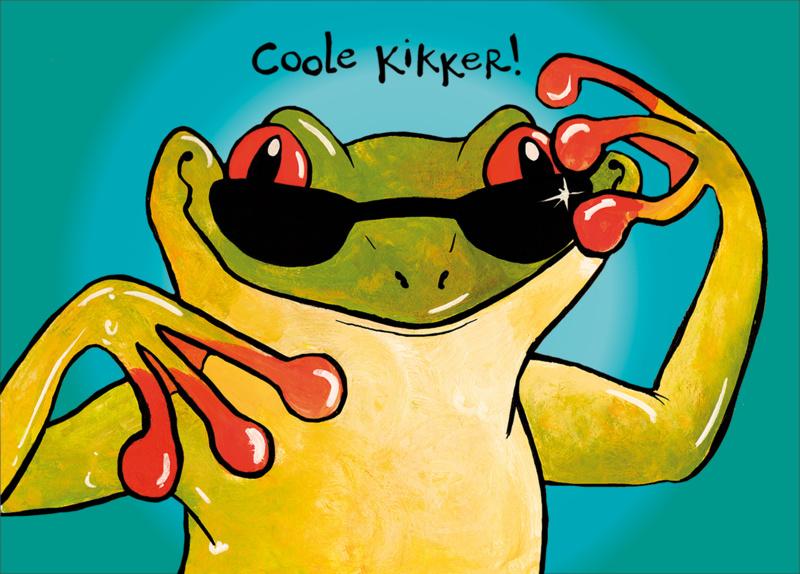 Afbeeldingsresultaat voor coole kikker