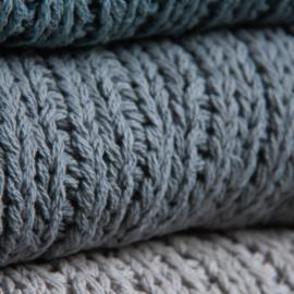 Lime-Light Plaid knit Grey 130x170cm