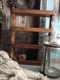 Stoer houten kruidenrek 58,5x43x10cm