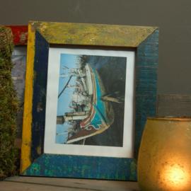 Fotolijst boatwood gekleurd 35x30cm