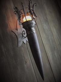 Fakkel metaal / hout 62cm