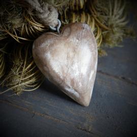 Houten hanger hart 10cm