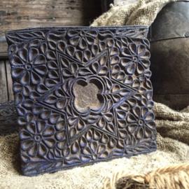 Oude Indiase blokprint stempel 15x15cm