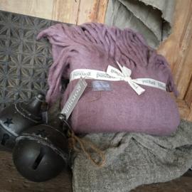 Goround Interior Woolen Plaid Large Fringes Mauve
