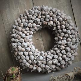 Krans Cocofruit darkgrey 35cm