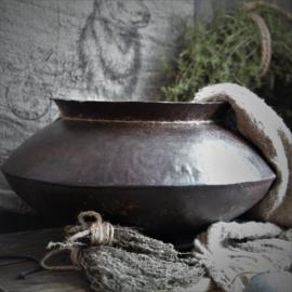 Vintage ijzeren pot 29cm drsn. / 23cm H