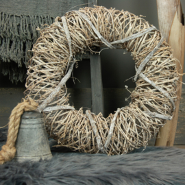 Krans Timber rough naturel 45cm drsn.