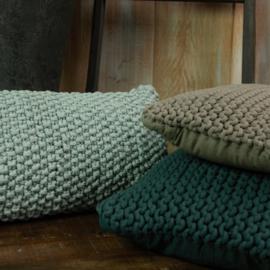 Lime-Light Kussen Chunky knit Old Blue