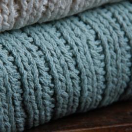 Lime-Light Plaid knit Old Blue 130x170cm
