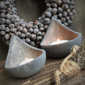 Brynxz set van 2 Tealightholder Spoon Majestic Vintage