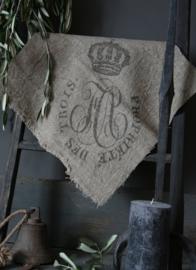 Shabby doek kroon 45x45cm