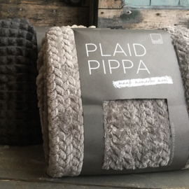 Leeff Fleece Plaid Pippa 150x200cm lichtgrijs