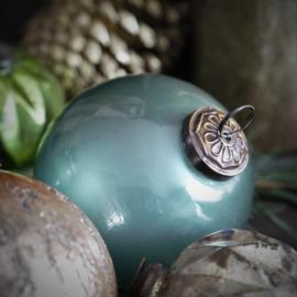 Kerstbal glas groen 10cm