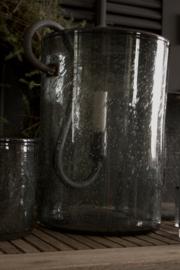 Puur Wonen windlicht Smokey Grey Bubbles 30/20 geschikt voor de grote S-kandelaar