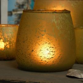 Pot Glass scandic Yellow 17cm drsn / 15cm H