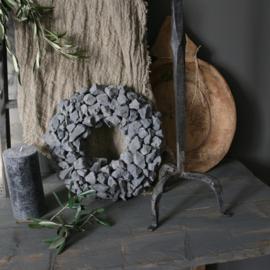 Stenen krans grijs 38cm drsn.