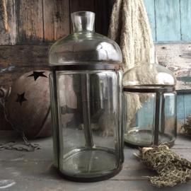 Decoratieve fles-vaas 18cm drsn. / 37cm H